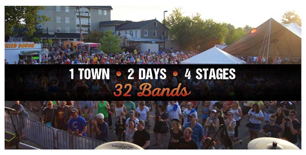 1 Town 2 Days 4 Stages 32 Bands