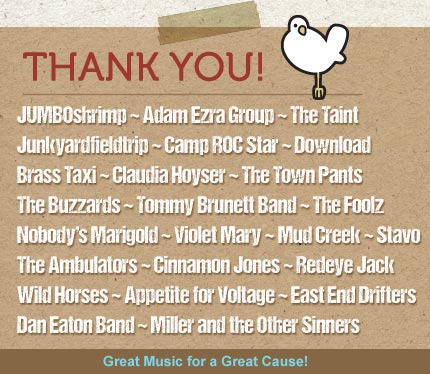Thank you to bands for 2017 festival